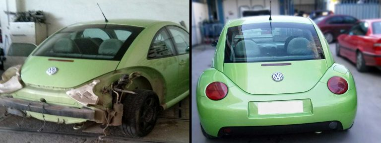 Επισκευή Volkswagen Beetle στο φανοποιείο auto-iraklis.gr